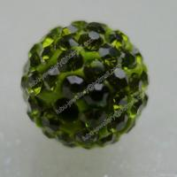 Buy cheap Olivine Clay Shamballa Pave Beads In Size 6mm, 8mm, 10mm, 12mm from wholesalers