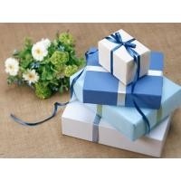 Wholesale Cuboid Custom Gift Paper Boxes Gravure Printing With Silk Ribbon from china suppliers