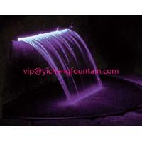 Quality Mini Waterfall Nozzles Stainless Steel Fountain Nozzles With / Without RGB LED Lighting for sale