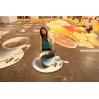 Buy cheap Outdoor Non - Slip 3d Floor Stickers Custom and Design Self Adhesive from wholesalers