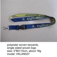 Custom made woven lanyard with plastic release buckle