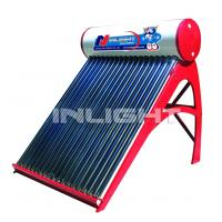 Quality 80L low pressure color steel  vacuum tube solar water heater for small family use for sale