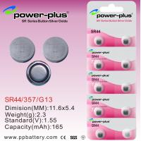 Wholesale SR Series SR44 1.55V 165mAh Watch Silver Oxide Button Cell Battery With ROHS, WEEE, CE, SGS from china suppliers