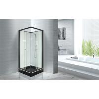 Wholesale Popular Bathroom Glass Shower Cabins 800 X 800 With Square Black ABS Tray from china suppliers