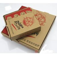 Quality Corrugated Cardboard Packaging Take Out Pizza Boxes Individual Pantone Color for sale