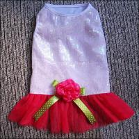 Wholesale Poodle, Mini Schnauzer Pink Fashionable Custom Dog Dresses with Rose from china suppliers