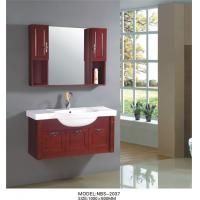 Wholesale Cherry wood bathroom vanity optional drains / Faucet , natural wood bathroom cabinets with painting from china suppliers