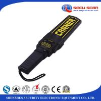 Wholesale Black Lightweight Hand Held Metal Detector Supper Scanner On / Off Switch Vibration Control from china suppliers