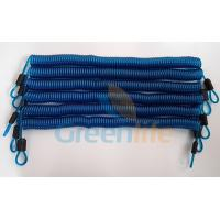 Wholesale Big Stronger and Durable Transparent Blue Long Wire Steel Coiled Lanyard Leash w/Stainless Steel Carabiners from china suppliers