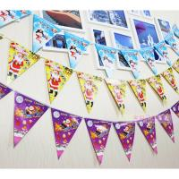 Quality Customized Waterproof Advertising Flag Banners , Christmas Create Custom Flag Bunting for sale