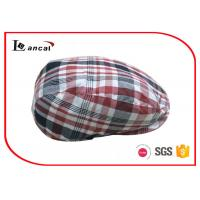 Wholesale Check Mens Summer Flat Caps Cotton Twill Polyester Lining Wool Scally Cap from china suppliers