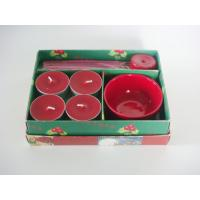 Wholesale Sandalwood Tealight Christmas Fragrance Gift Sets Red / Green from china suppliers