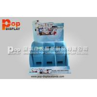 Wholesale Customized Blue 2 Tier Cardboard Counter Display Boxes With 6 Compartment from china suppliers