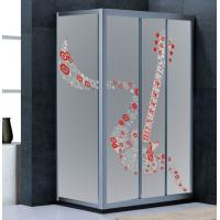 Wholesale Corner Shower Enclosures Glass with silk screen flowers, 6mm 8mm 10mm Decorative Frost Tempered Glass from china suppliers