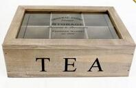 Wholesale Custom design 6 compartments wooden tea bag box with lid from china suppliers