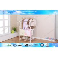 Wholesale Simple Space-saving Folding Clothes Rack Clothing Drying For Inside / Outside from china suppliers