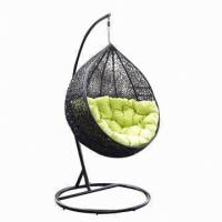 Wholesale Patio Outdoor Furniture Garden Rattan Egg Hanging Swing Chair, UV-resistant from china suppliers