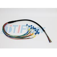 Wholesale 12 Core FTTX Fiber Optic Pigtail for Patch Panel , lc pigtail multimode  from china suppliers