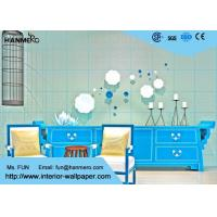 Wholesale High Range Cyan Bronzing Non-Woven Paper Modern Removable Wallpaper for Living Room from china suppliers