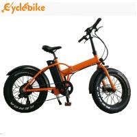 Wholesale Hot selling 48v 500w bafang motor 20inch folding mountain fat tire electric bicycle for ebike from china suppliers