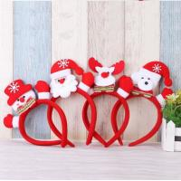 Wholesale Cartoon Flashing Christmas Theme Head Hoop Lighted Headband Snowman Deer Hair Decorations Kids Gift Christmas Party from china suppliers