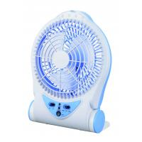 Wholesale Blue Rechargeable Battery Operated Table Fan , Portable Charging Fan from china suppliers