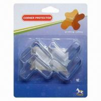 Wholesale Child-proofing Products, Eco-friendly Plastic PVC Corner Protectors, Sized 41 x 41 x 15mm from china suppliers