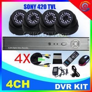 Wholesale 4CH CCTV DVR Kit 8 IR Cameras H.264 CCTV System CEE-DVR-7104 C035 from china suppliers