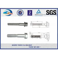 Wholesale UIC Standard Black Zinc Railway Sleeper Screws For Fastening Rails from china suppliers