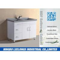 Wholesale Economic Floor Standing Bathroom Cabinets And Vanity With Artificial Stone Basin from china suppliers