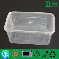 Buy cheap Rectangular Microwaveable disposable plastic takeaway food box 1000ml from wholesalers