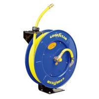 Quality Goodyear Steel Spring Driven Low Pressure air water retractable hose reel 20m hose for sale