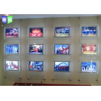 Wholesale Photo Frame Crystal LED Light Box Estate Agent Window Display Units Illuminated from china suppliers