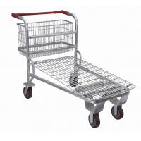 Wholesale Supermarket Shopping Trolley ,Retail Logistics Trolley With Zinc Plated Surface from china suppliers