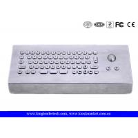 Wholesale Brushed Stainless Steel USB Interface Industrial Keyboard WithTrackball from china suppliers