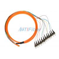 Wholesale ST 0.9mm Breakout Fiber Optic Pigtail , 12 core Optical Cable from china suppliers
