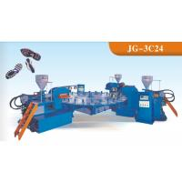Wholesale Three Colors Sport Sole Making Machine , Footwear Pvc Injection Moulding Machine from china suppliers