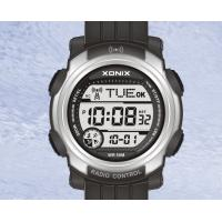 Wholesale Black Digital Sports Radio Controlled Watches Waterproof , PU Wristband from china suppliers