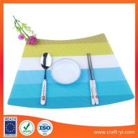 Wholesale sector shape Textilene table mat PVC placemats dining table bright spot from china suppliers