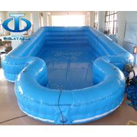 Wholesale Blue Summer Double Layer Inflatable Swimming Pools UV Resistance from china suppliers