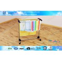 Wholesale Rolled Floor Standing Multi-pole Kitchen Towel Rack Mobile with Wheels from china suppliers