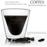 Wholesale Double Walled Clear Glass Expresso Coffee Mug Cup 300ml - Coffea from china suppliers