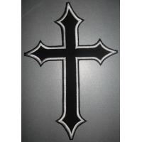 Wholesale Christian Patches Embroidered Biker Motorcycle Back Jacket Cross Patch from china suppliers