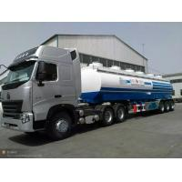 Wholesale 30m3 water tank semi trailer, 3 axles, loading 30t, 3-4 departments, can equip with a pump, carbon steel from china suppliers