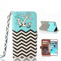 Wholesale Ebay Hot Sell Anchor & Wave Pattern Flip Leather Case W/Stand For Iphone 6 Plus from china suppliers