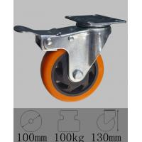 Wholesale Industrial total lock brake caster with top plate swivel ,4x1-1/4(100mmx32mm). from china suppliers