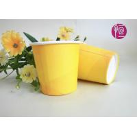 Wholesale 2.5oz Promotion Single Wall Paper Cups , Yellow Disposable Paper Cups With Lids from china suppliers