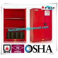 Wholesale Safety Combustible Storage Cabinets , Flammable Storage Containers Double Doors from china suppliers
