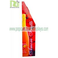 Quality Recyclable Water / Wine Red Paper Pop Cardboard Displays Custom Designed for sale