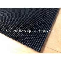 Wholesale Recycled Odorless corrugated rubber matting 3mm thick min. Oil resistance from china suppliers